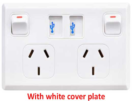 Masterplug USB outlet white main