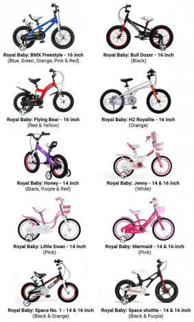 Royal Baby childrens bicycles