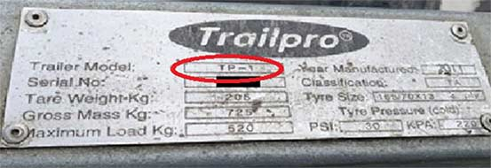 Trailpro label