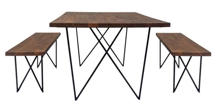 nood sylvan dining table bench