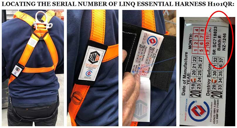 LINQ Essential Harness with Quick Release Buckles identification