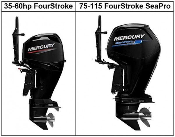 Mercury Outboard FourStroke Mounted Tiller Handle Engines