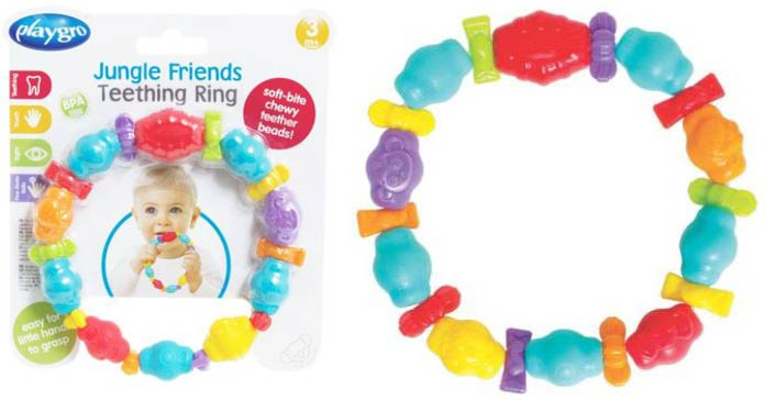 Playgro Jungle Friends Teething Ring